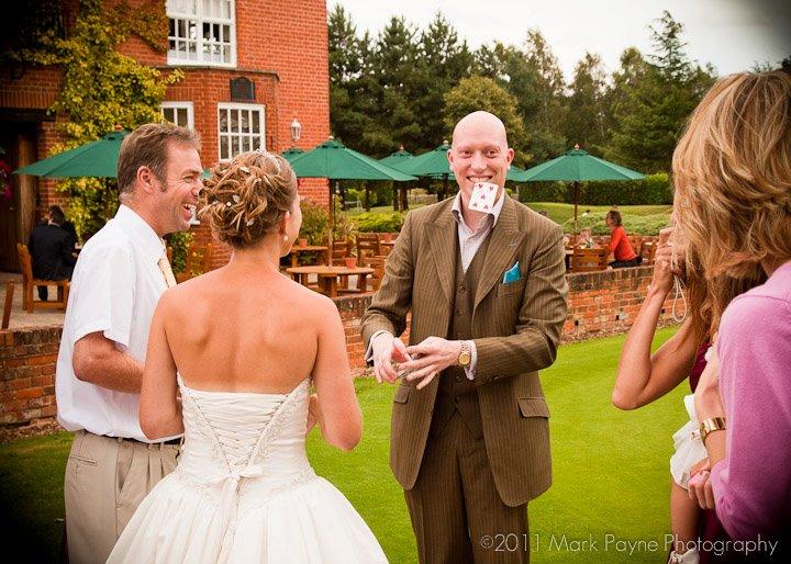 Sand Martins Golf Course wedding magician