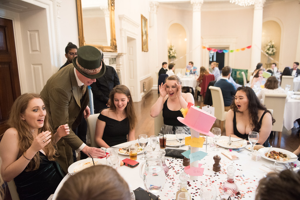 Performing magic at an Alice in Wonderland themed event in Nottingham